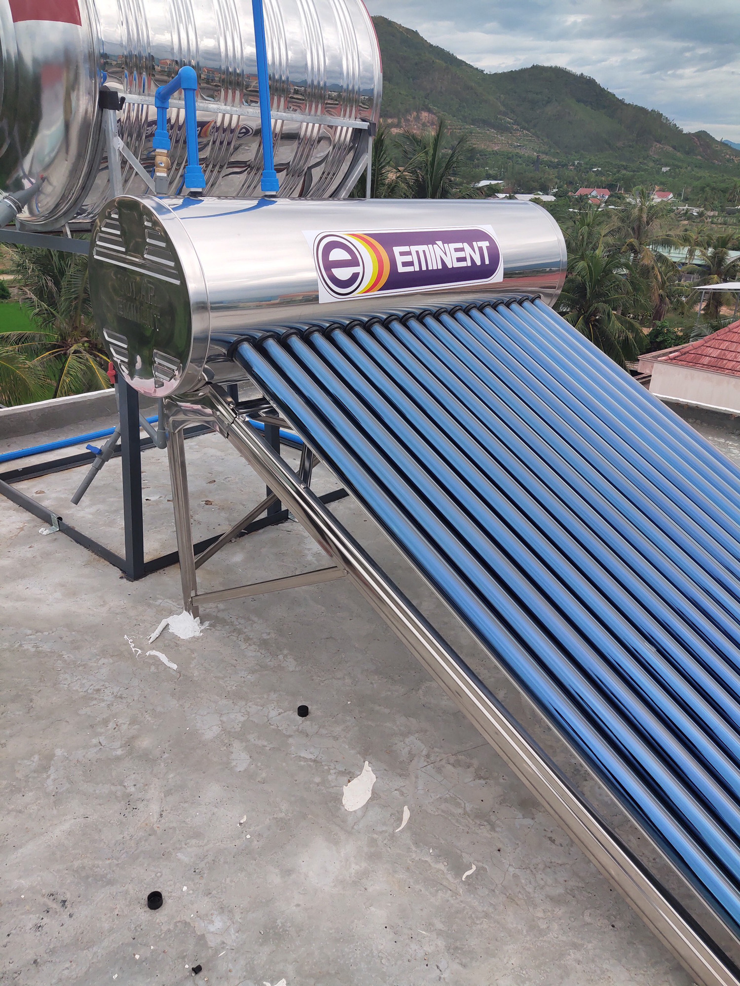 Điện trở  máy nước nóng năng lượng mặt trời Phi 47 bằng Gốm CERAMICS chống giật điện, siêu bền