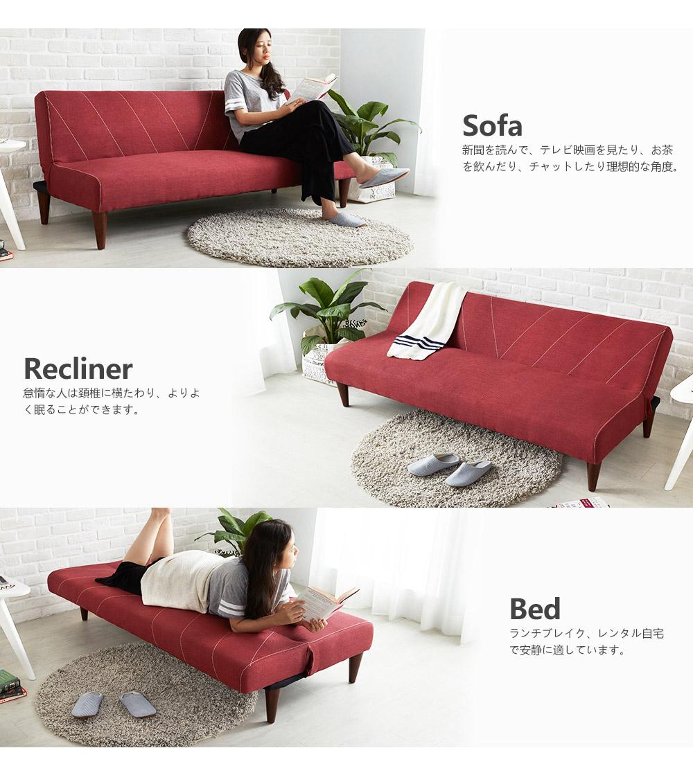 Sofa giường BNS-2002-Đỏ