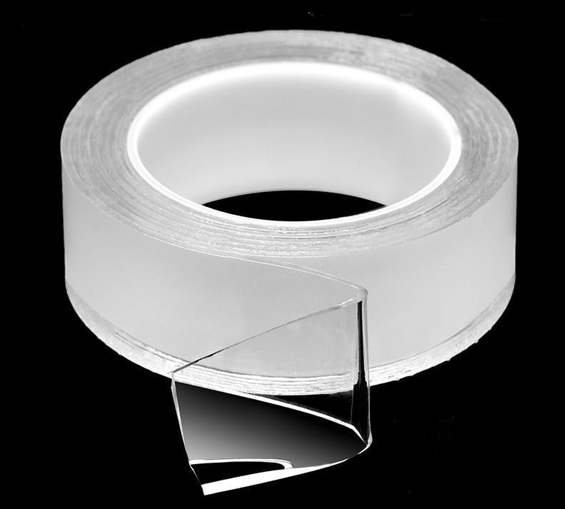 Băng keo 2 mặt Nano siêu dính, siêu chắc chắn, dính trên mọi vật chất, có thể tái sử dụng (dài 3m, rộng 3cm, dày 2mm)