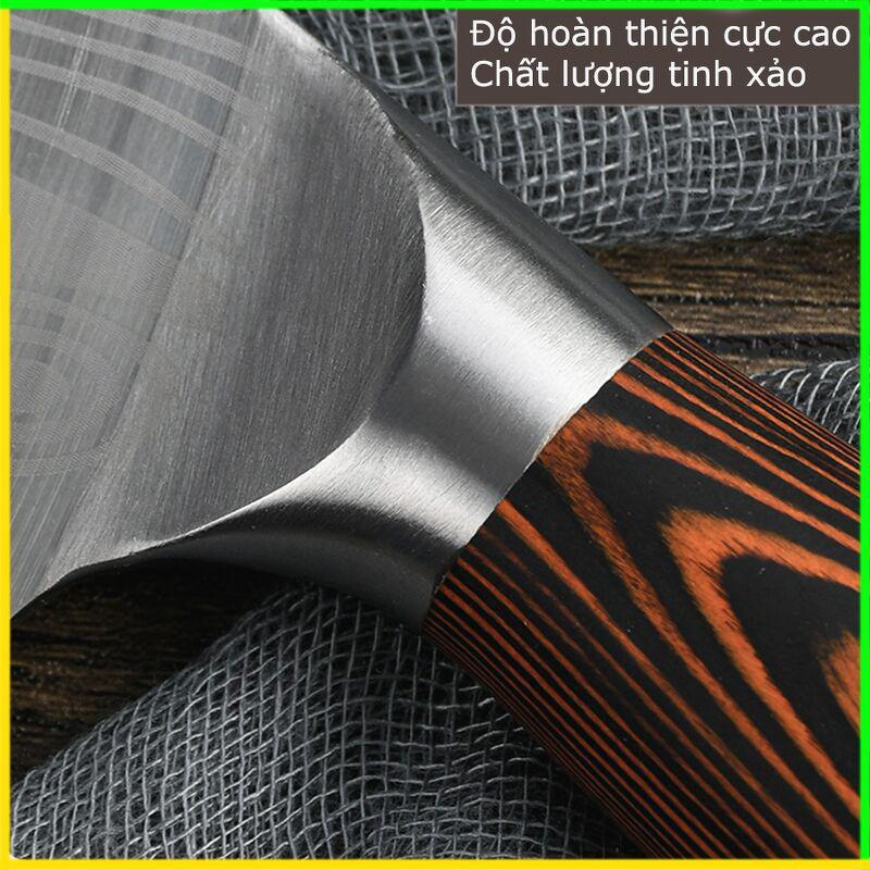Dao chặt Chất Liệu Thép Nhật ASAKH 5CR15 lưỡi sắc, siêu cứng Gelife939