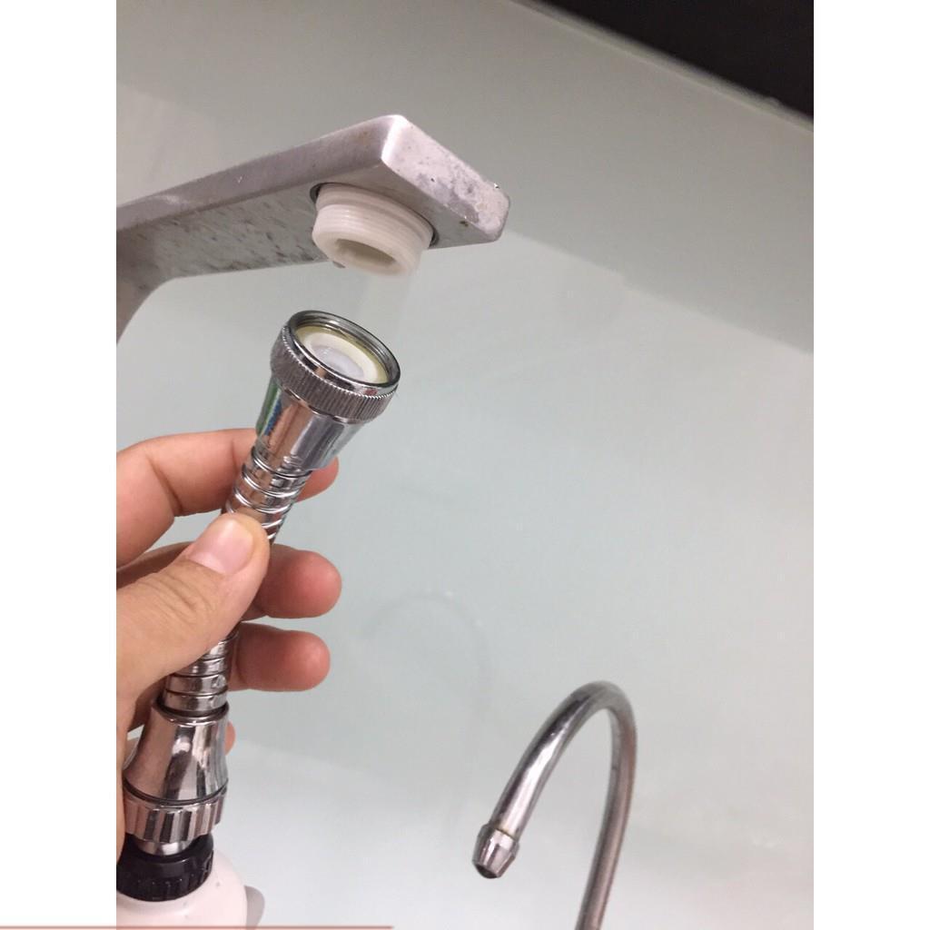VÒI NƯỚC RỬA BÁT INOX TĂNG ÁP XOAY 360 ĐỘ ( Áp suất nước rất mạnh 3 CHẾ ĐỘ XẢ) - 206797