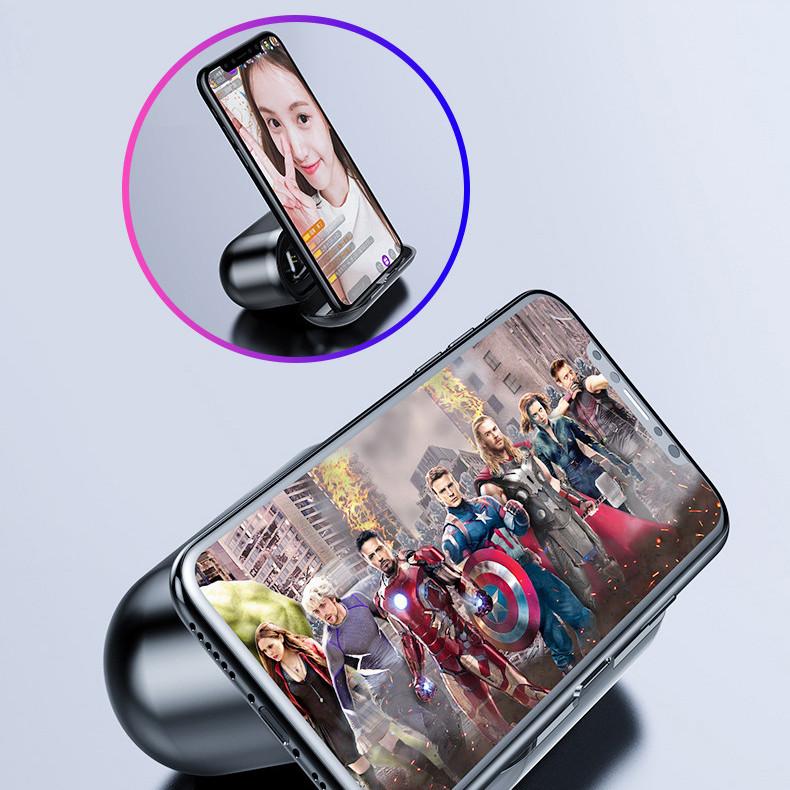 Tai nghe bluetooth không dây F9 True wireless Cảm Ứng Vân Tay, Dock Sạc có Led Báo Pin Kép