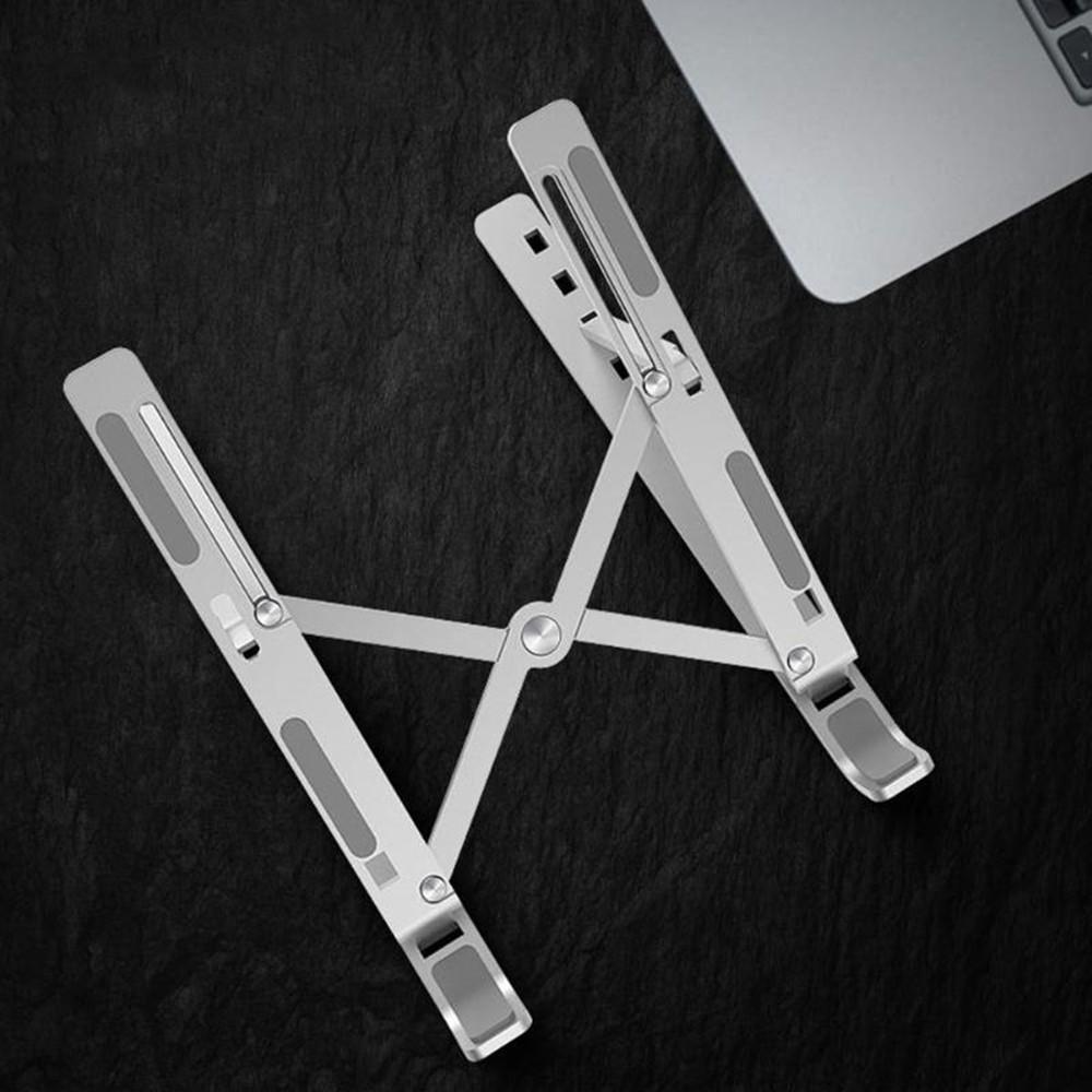 Giá đỡ tản nhiệt cho laptop, macbook, máy tính bảng chất liệu hợp kim nhôm siêu chắc, xếp gọn tiện dụng