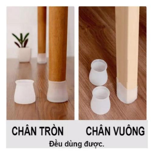 Bộ 20 miếng bọc chân bàn ghế silicon chống trượt, chống ồn xước sàn gỗ - màu ngẫu nhiên [Tặng móc dán tường treo đồ]
