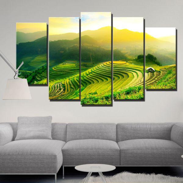 Tranh Canvas treo tường nghệ thuật | Bộ 5 bức | HLB_115