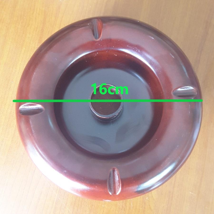 Gạt tàn thuốc gỗ hương đỏ (Gia công nguyên khối, 16cm x 6cm) - Độc đáo, Lịch sự, đẹp cổ điển