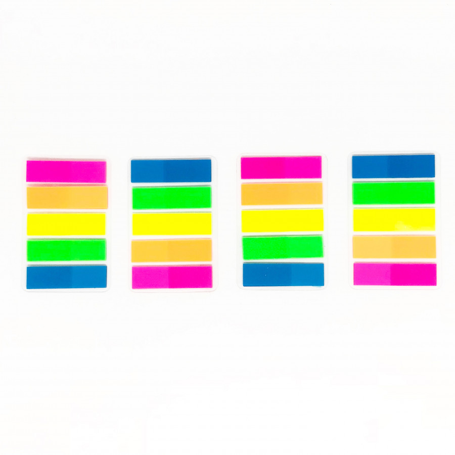 Combo 4 xấp giấy ghi nhớ huỳnh quang