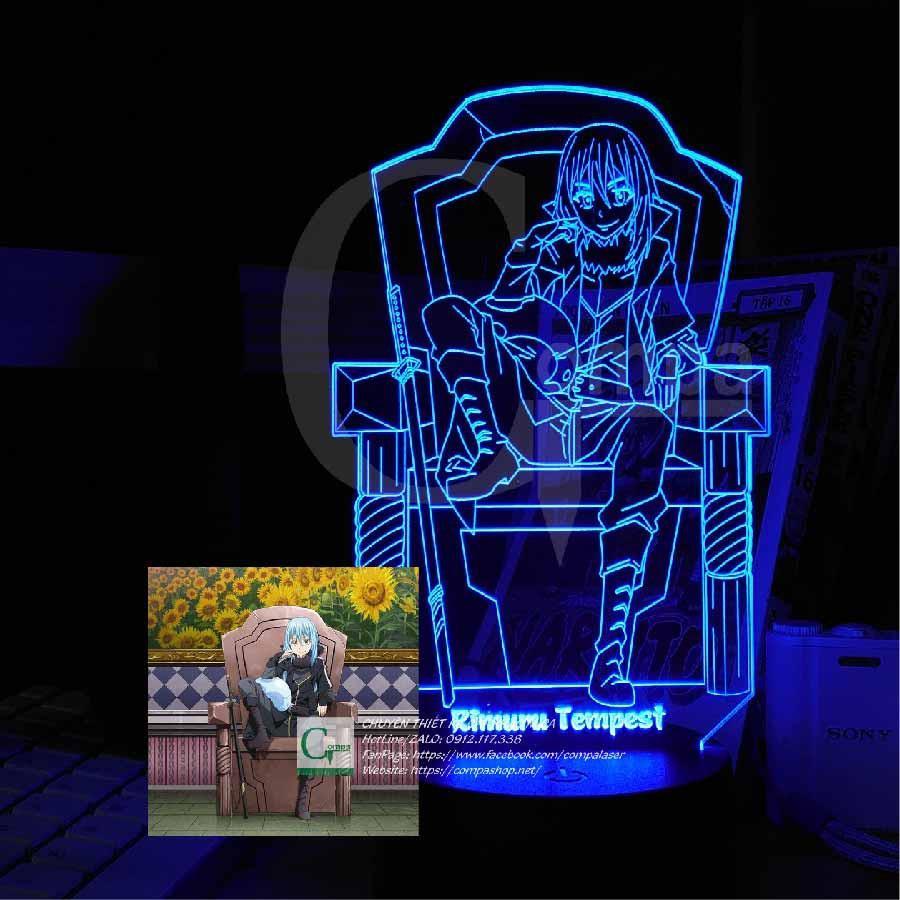 Đèn Ngủ ANIME ĐÈN LED 3D Tensei Shitara Slime Rimuru Tempest Type 04 ATSS0104 16 màu tùy chỉnh