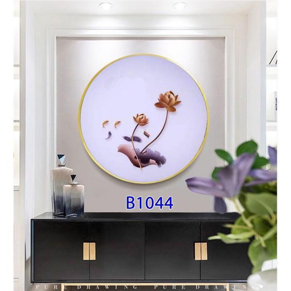 Tranh đèn Led 3 chế độ ánh sáng 5d hình tròn gắn tường trang trí phòng khách, phòng ngủ phong cách châu Âu nhiều mã hàng