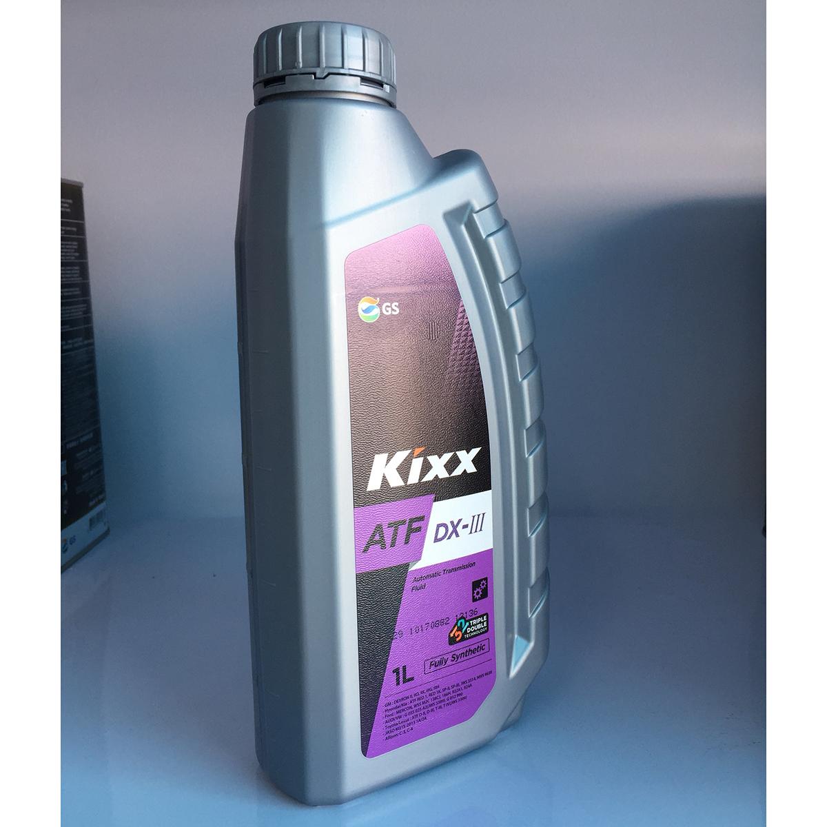 Dầu cho Hộp số Tự động Kixx ATF DX-III 1 lít Triple Double Technology