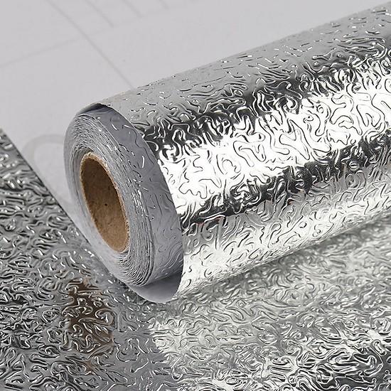 Combo 2 cuộn giấy bạc dán tường tặng kèm 3 khăn lau bếp