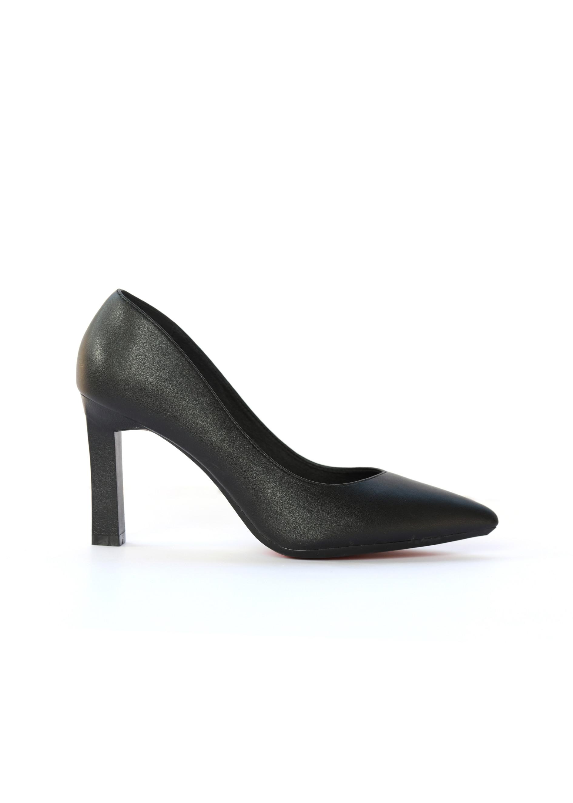 Giày cao gót nữ, cao 9CM, da Microfiber nhập khẩu cao cấp êm ái,. Mũi nhọn, gót trụ :B.PG5324.9F