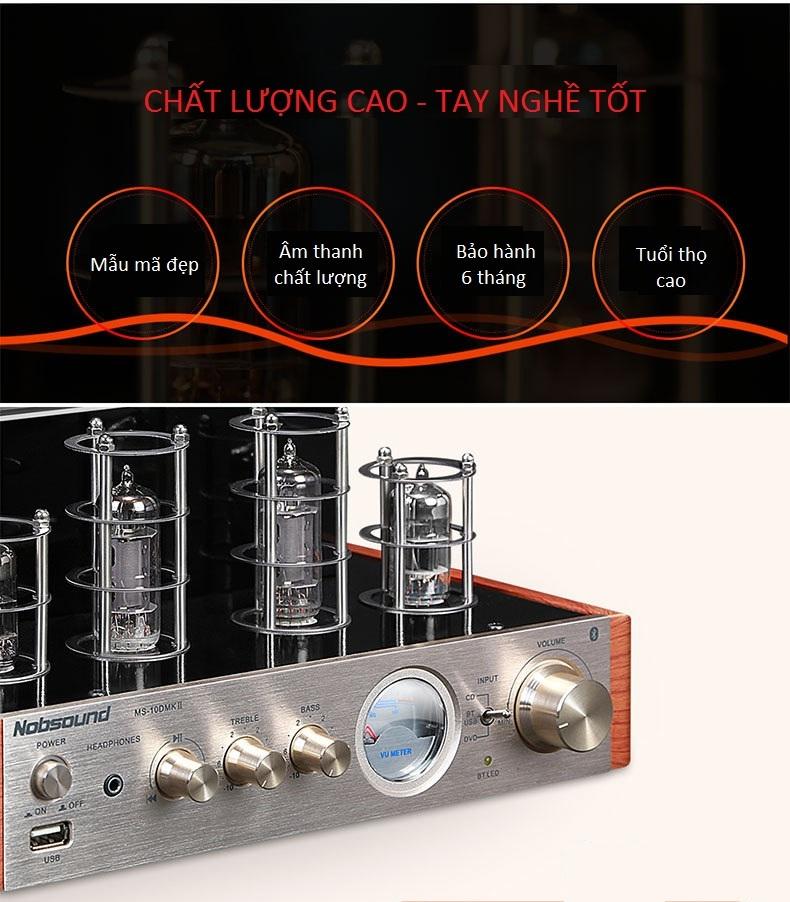 Amplifier Đèn Mini Bluetooth MS-10DMKII DAC Cao Cấp AZONE - Hàng Nhập Khẩu