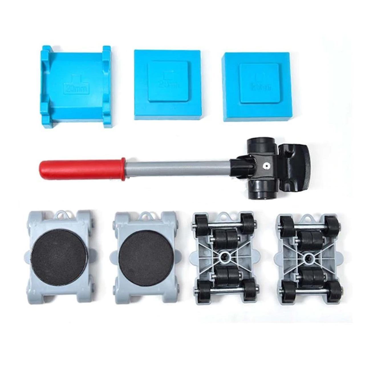 Bộ dụng cụ di chuyển đồ nặng 200KG dùng trong gia đình 8 chi tiết thông minh