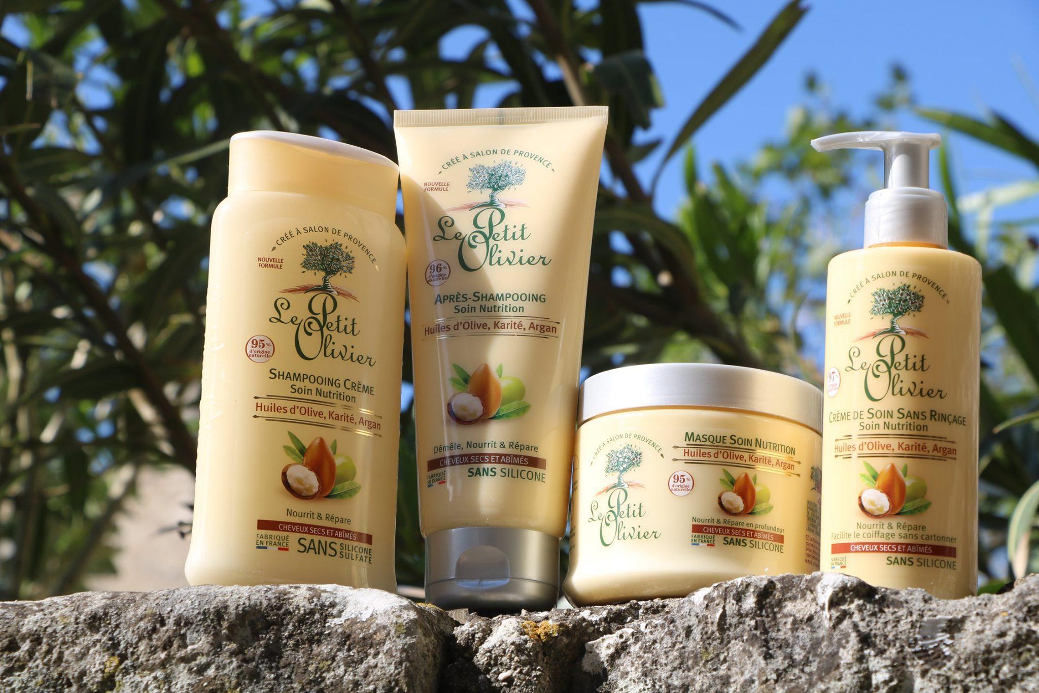 Bộ 3 sản phẩm phục hồi tóc hư tổn chiết xuất Dầu Argan, Bơ Hạt Mỡ, Dầu Olive Le petit Olivier (Dầu gội, Dầu Xả và Kem ủ tóc)