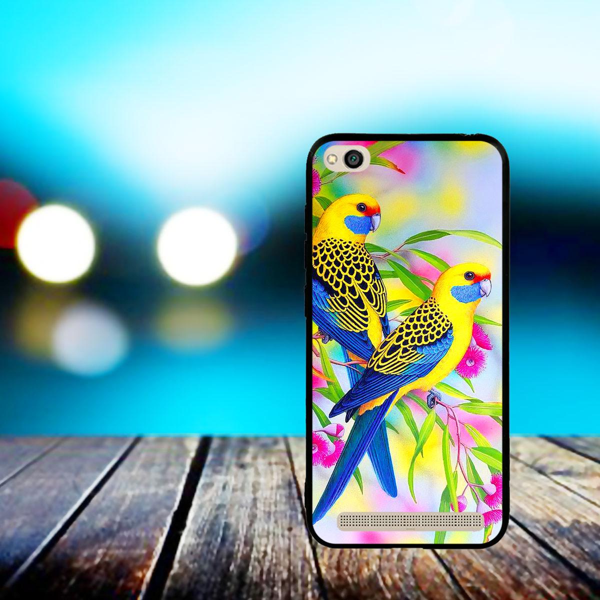 Ốp lưng viền TPU cho điện thoại Xiaomi Redmi 5A - Couple Bird