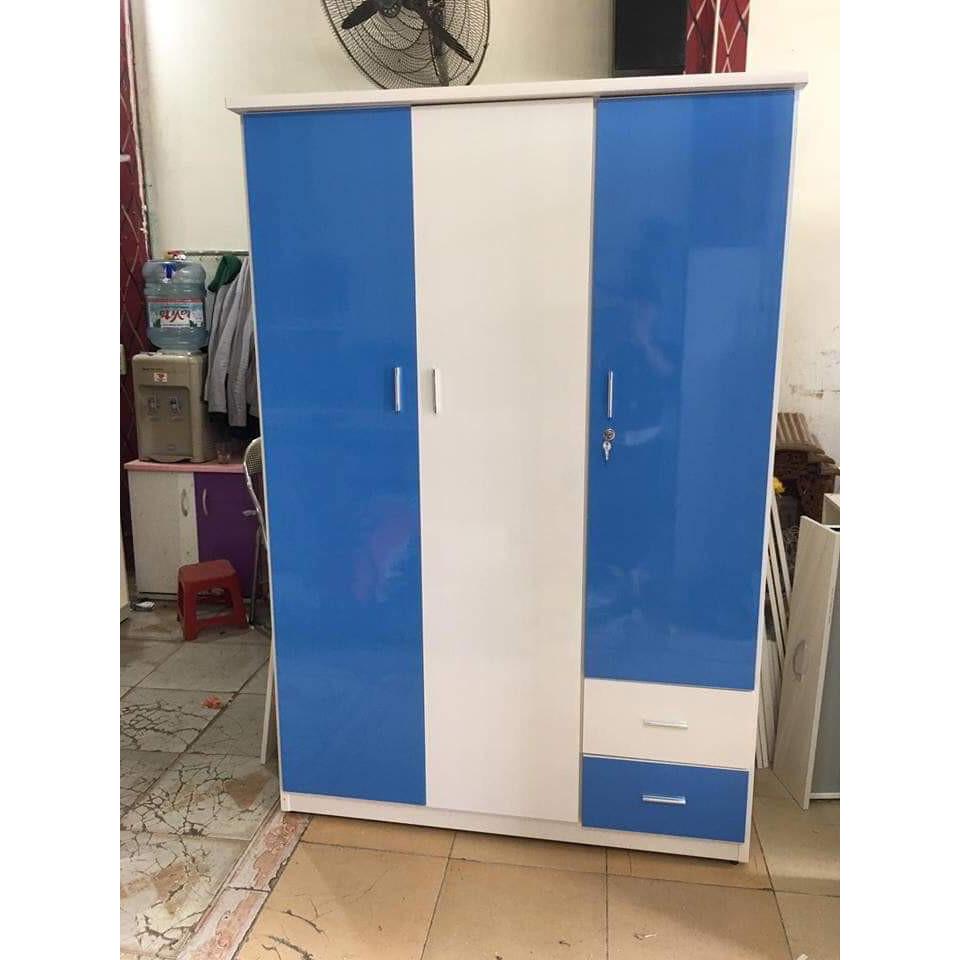 Tủ quần áo bằng nhựa đài loan 1m85 x1m25x48cm  -  xanh