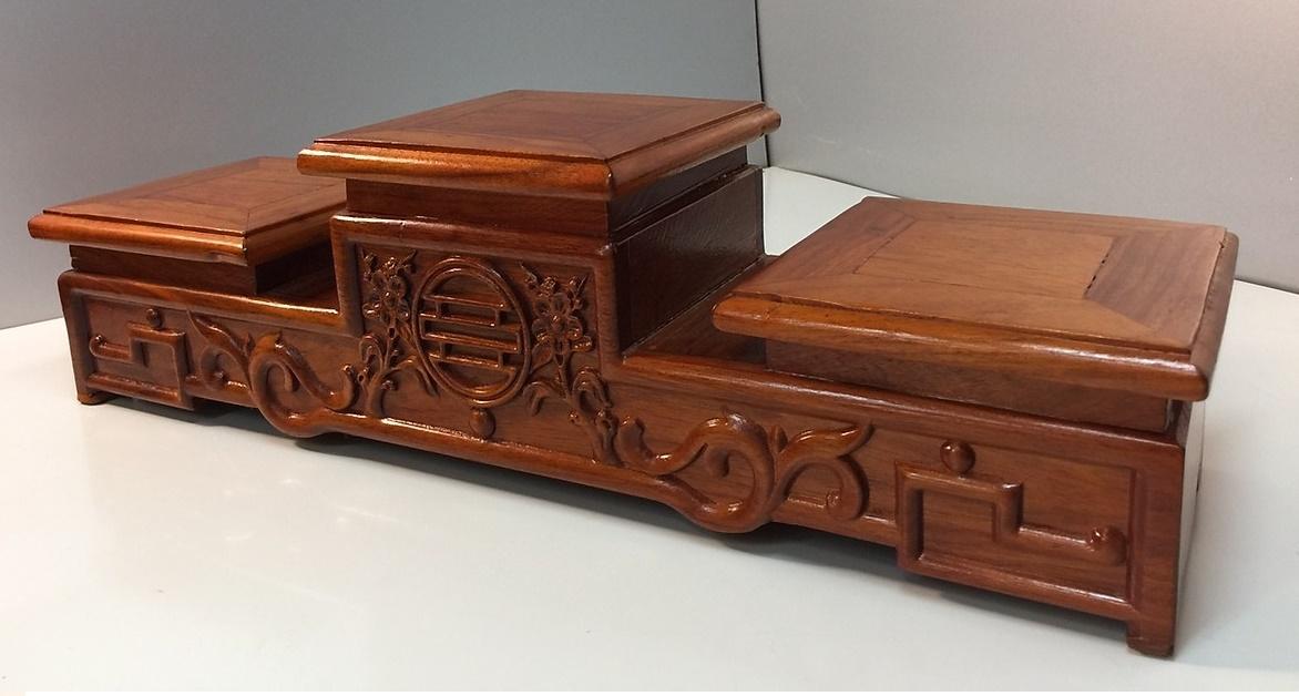 Đế đặt bát nhang 16 - gỗ hương AN1330