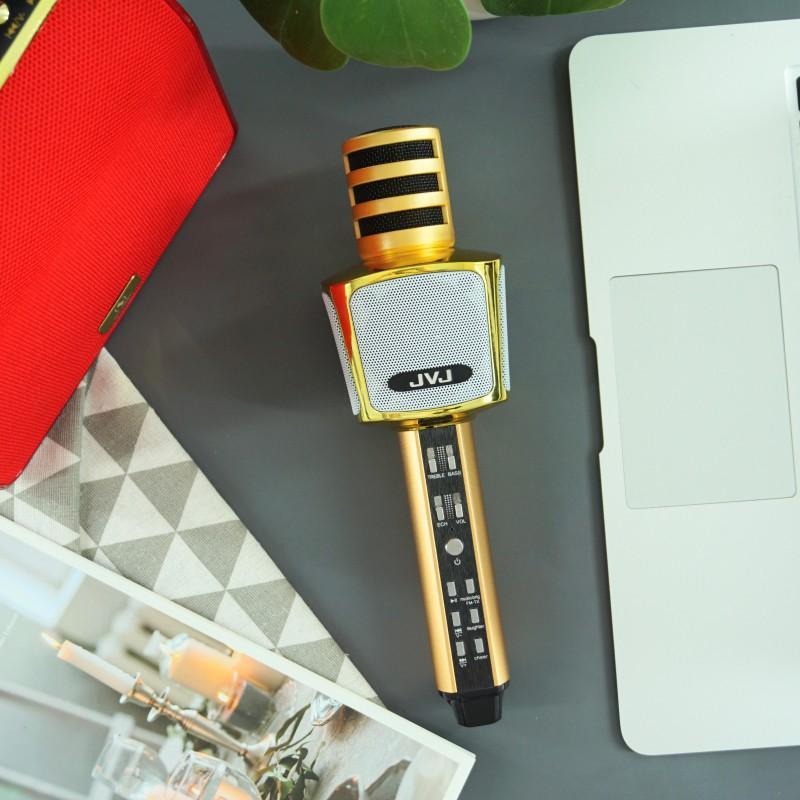 Micro hát karaoke kèm loa Bluetooth không dây JVJ SD17 3 in 1 – Bass cực chuẩn - Hàng Chính Hãng