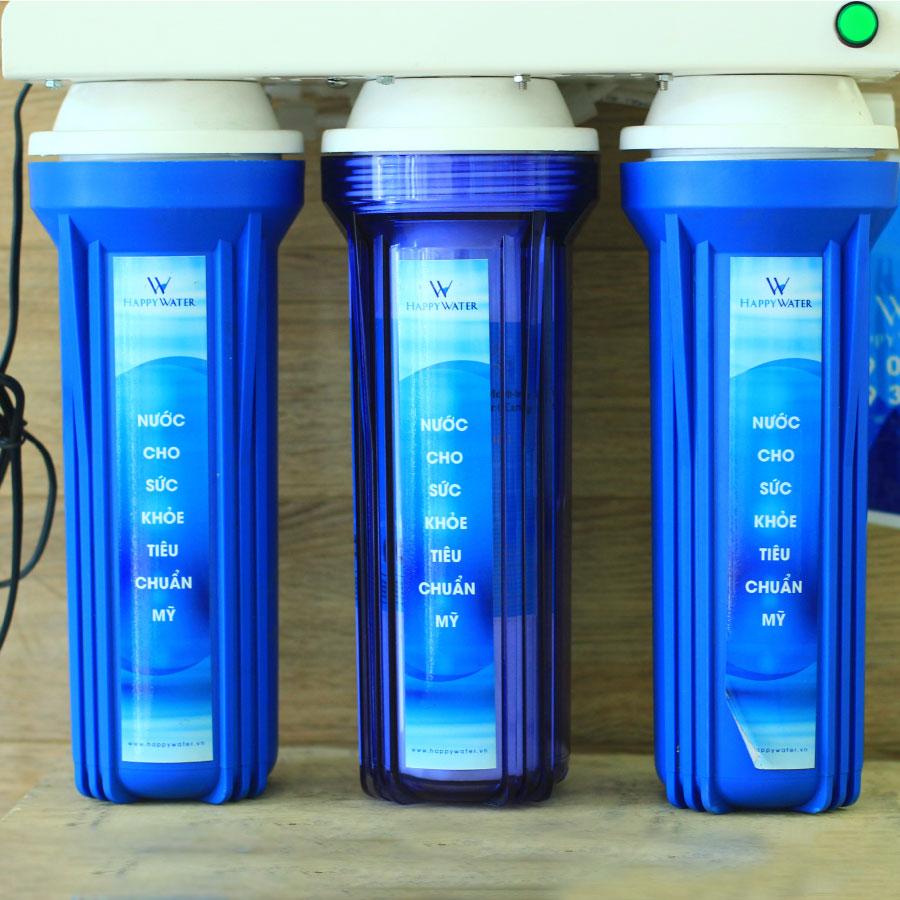 Lõi lọc nước gia đình cao cấp cấp 9 HappyWater dùng ngay từ vòi an toàn cho sức khỏe - Hàng chính hãng