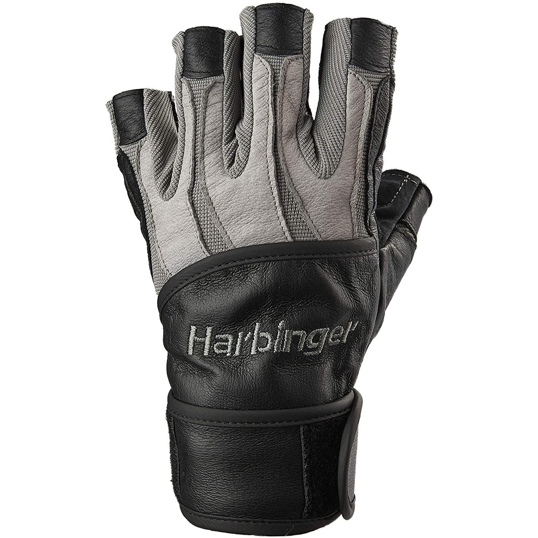 Găng Tay Tập Gym Harbinger Men's Bioform Wristwrap Có Quấn Cổ Tay
