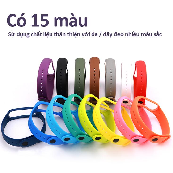 Dây đeo thay thế silicone cho miband 3, 4 có nhiều màu sắc lựa chọn theo phong cách riêng của bạn M3M4 STRAP