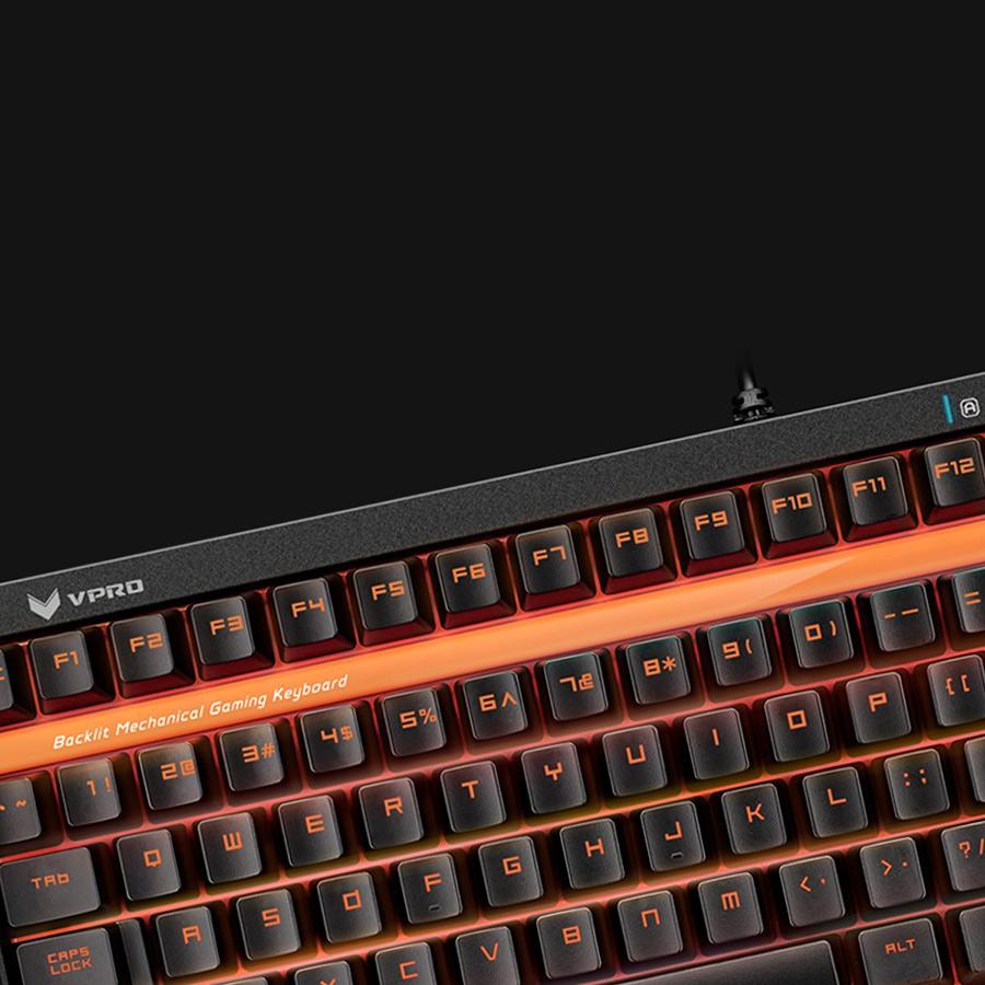 Bàn Phím Cơ Có Dây Rapoo V500S Alloy LED Mechanical TKL - Hàng Chính Hãng