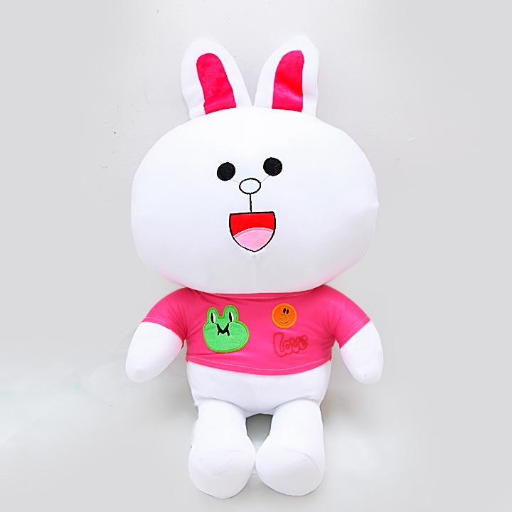 Gấu bông Thỏ cony áo hồng cao cấp 70cm