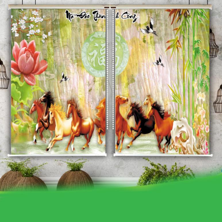 Rèm Tranh 2 Tấm Mẫu Ngựa_20724