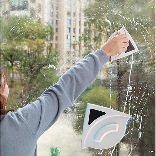 Miếng lau kính 2 mặt nam châm, dụng cụ lau kính nam châm cho nhà cao tầng
