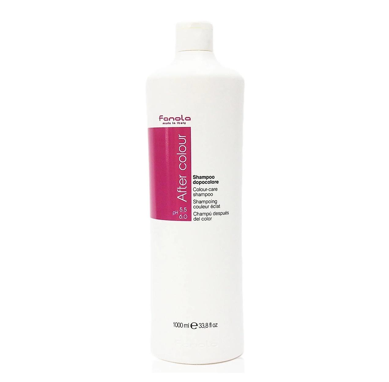 Dầu Gội Chăm Sóc Tóc Nhuộm Fanola After Colour Care Shampoo Italy 1000ml + Tặng Kèm Băng Đô Rửa Mặt