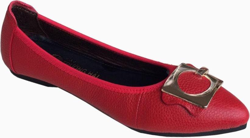 Giày búp bê nữ mũi nhọn da bò cao cấp  Trường Hải BB229