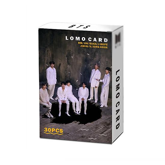 Lomo card ảnh treo BTS Map of the Soul 7 tặng kèm dây và kẹp gỗ