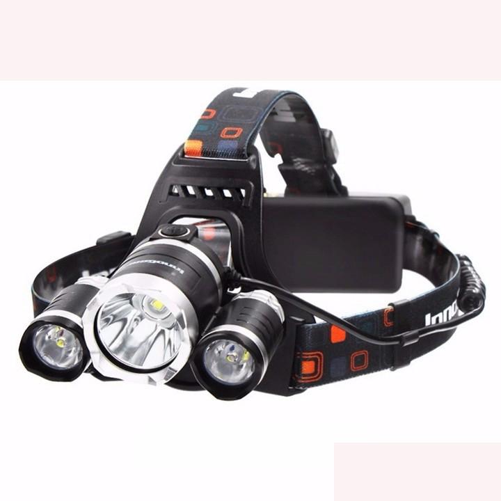 Đèn Pin Đội Đầu 3 Đèn Led Siêu Sáng