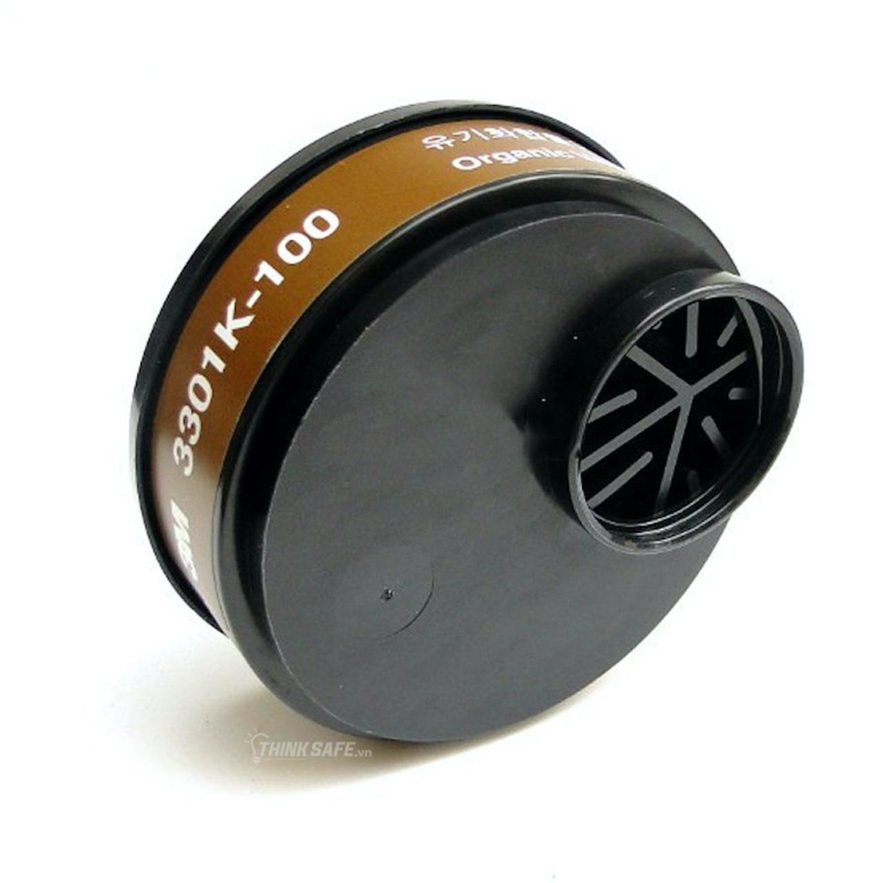 Mặt nạ phòng độc 3M HF52 mặt nạ lọc bụi, lọc hơi/khí độc kèm phin lọc 3301K-100 (HF52-3301K-7711-774)
