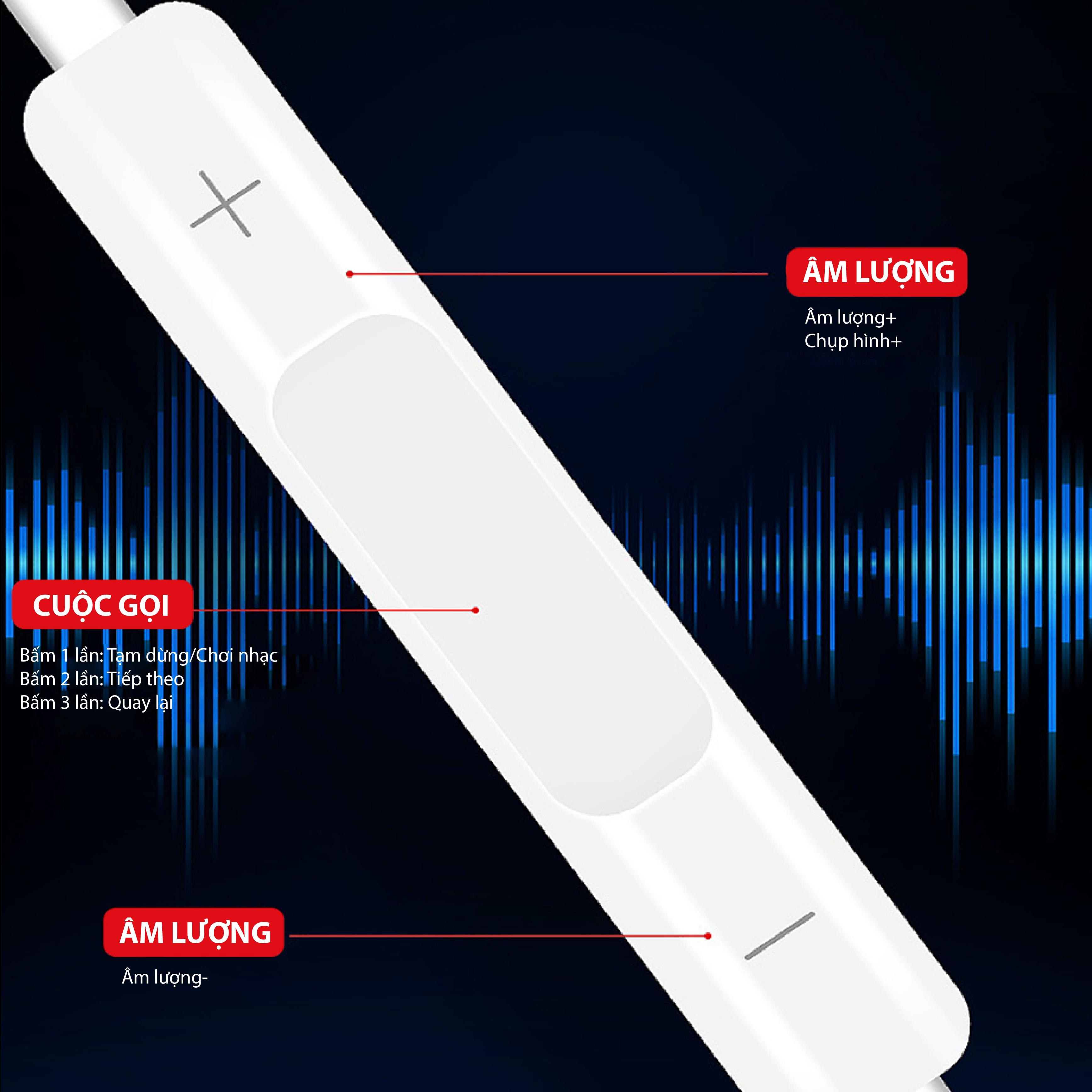 Tai nghe nhét tai có dây có mic đàm thoai FENGZHI LIFE- E35 - HÀNG CHÍNH HÃNG