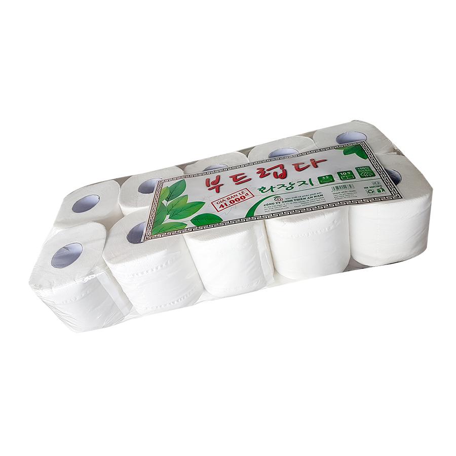 Combo 6 lốc giấy vệ sinh Hàn Quốc 3 lớp - 10 cuộn/ lốc