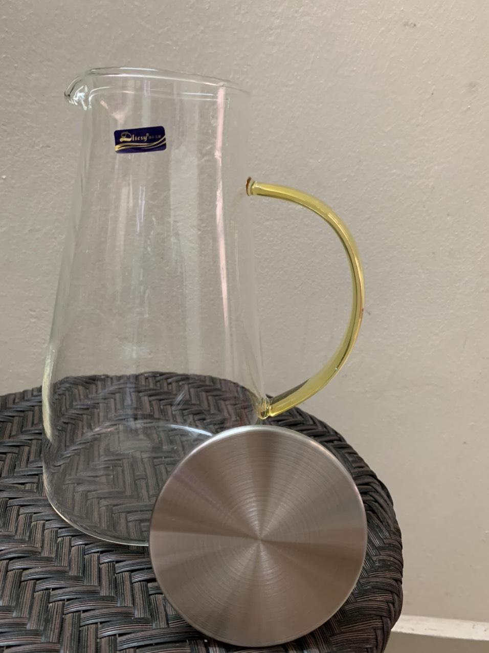 Bình nước thủy tinh nắp inox 1,8l