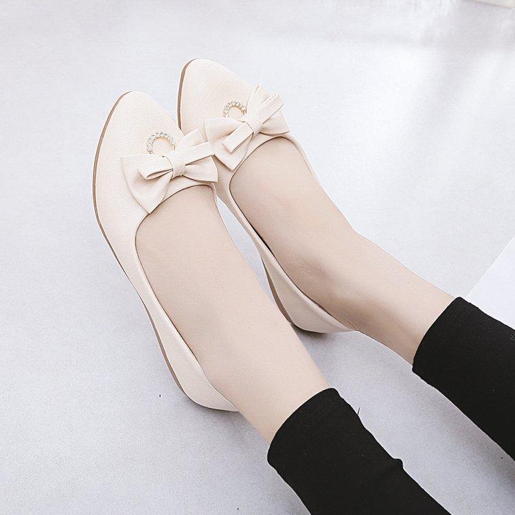 Giày búp bê da mềm đế cao 2p