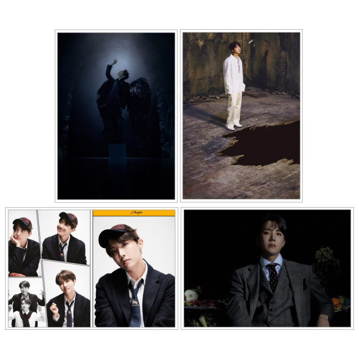 "Poster J-HOPE BTS ""Map Of The Soul: 7"" 4 tấm"