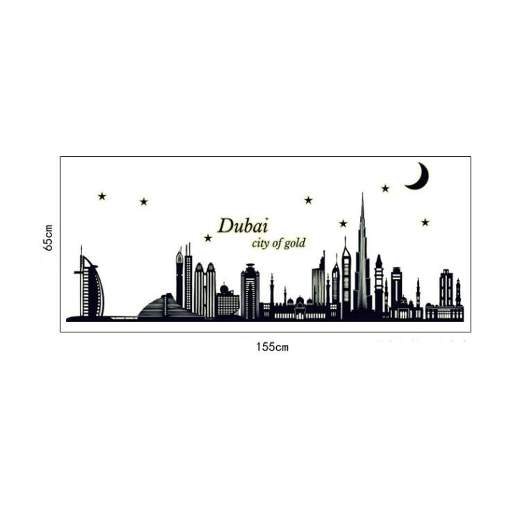 Decal dán tường Dubai city of gold BO6916