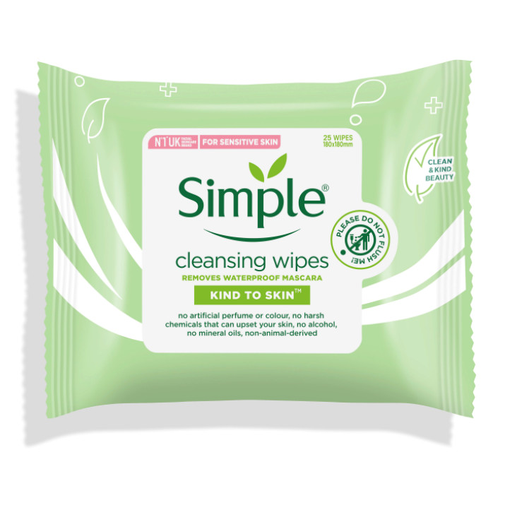 Giấy tẩy trang Simple Kind to Skin Cleansing Wipe 25 tờ