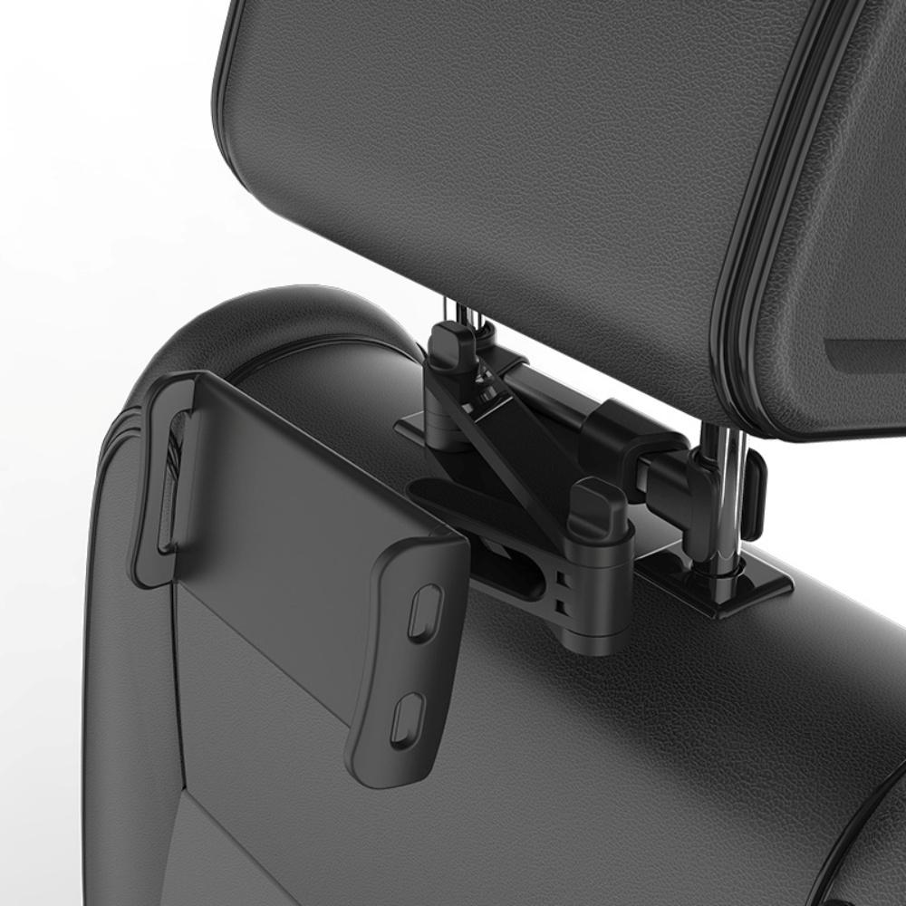 Kẹp điện thoại ipad xoay 360 độ treo ghế sau ô tô, xe hơi, giá đỡ kẹp máy tính bảng khớp kéo dài xoay dọc ngang bằng kim loại cao cấp- Hàng chính hãng
