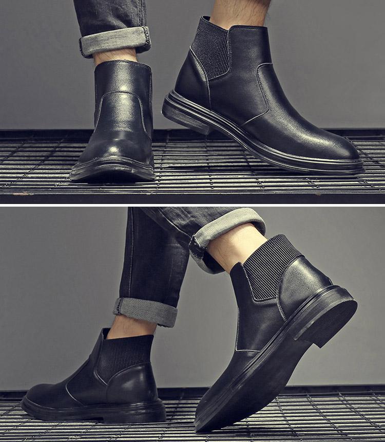Giày Boot (bốt) Chelsea, giày cổ cao big size cỡ lớn cho nam chân to cân đối - BT108