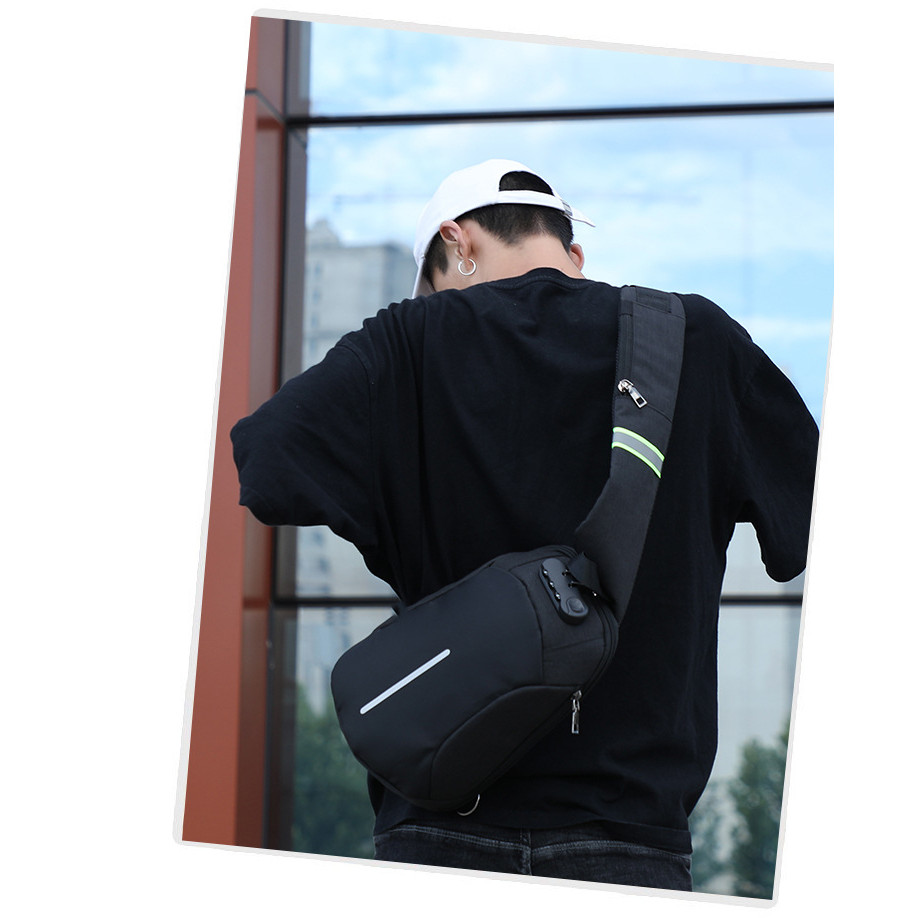 Túi Balo Đeo Chéo Nam Khóa Chống Trộm Chống Thấm Nước Đi Chơi Đi Du Lịch TC16