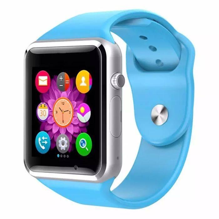 Đồng hồ thông minh A1 màu xanh dương tặng kèm sim cho đồng hồ