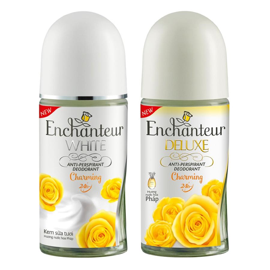 Combo Dầu Gội Enchanteur Charming 650ml+ Lăn khử Mùi Enchanteur Charming 50ml