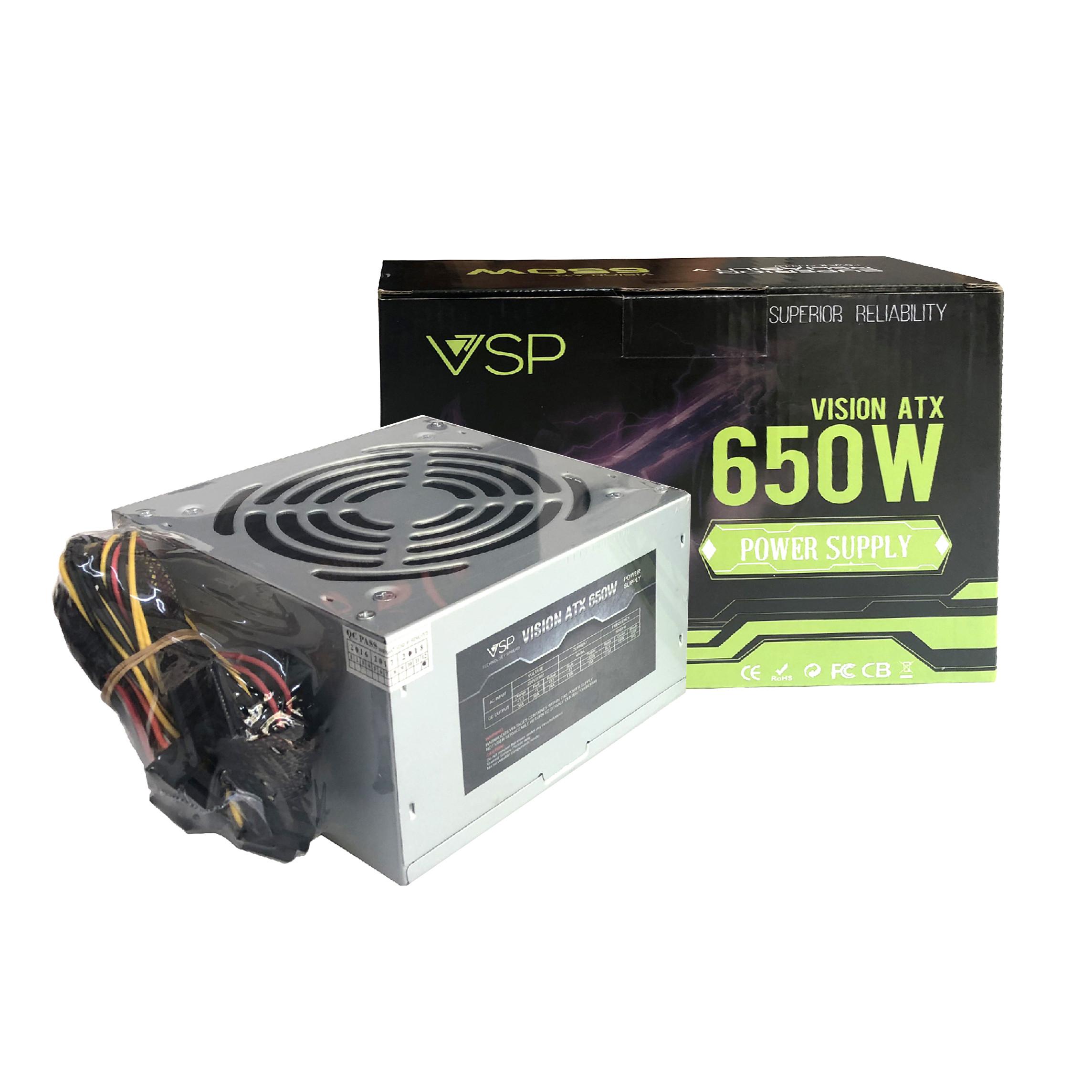 Nguồn VSP 650W Full Box - Kèm Dây Nguồn - Hàng Chính Hãng - Nguồn ...