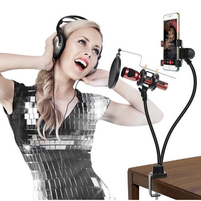Giá đỡ cho điện thoại và Miro Likestream hát karaoke