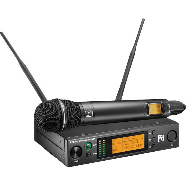 Handheld set with RE520 head 488-524MHz Electrovoice (USA/Taiwan) - Hàng chính hãng